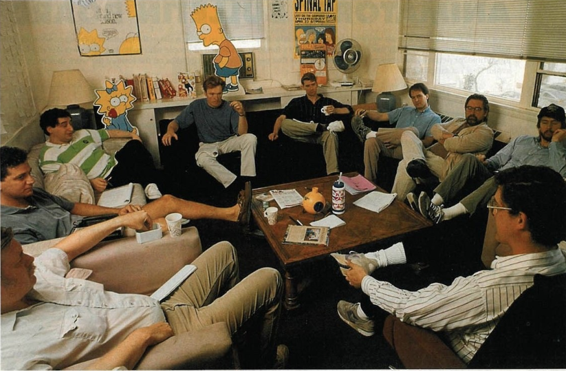The Simpsons writers room