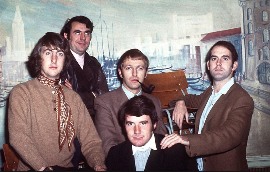 Monty Python (L-R: Eric Idle, Terry Jones, Graham Chapman, Michael Palin, John Cleese)